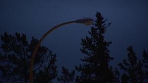 Un lampadaire défectueux à Whitehorse