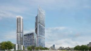 Un dessin de l'ensemble des 4 immeubles