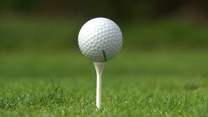Une balle de golf.