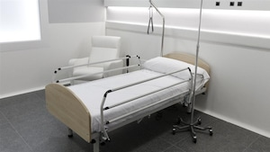 Un lit d'hôpital