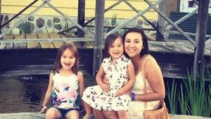 Maggie Kistabish et ses enfants