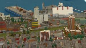 Une maquette du port de Montréal