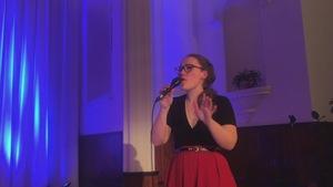 La chanteuse de jazz Marie-Claire Linteau.