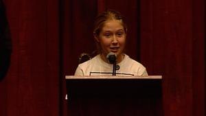 La jeune patineuse Mathilde Charron