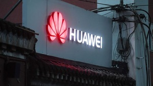 Le logo du fabricant chinois Huawei