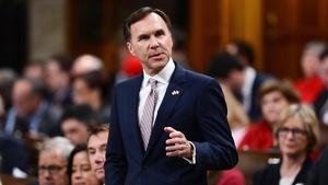 Le ministre fédéral des Finances, Bill Morneau, présentant le plus récent budget du gouvernement Trudeau.