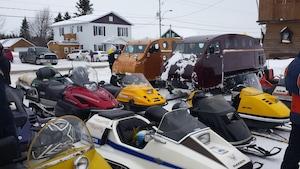 Des motoneiges d'époque rassemblées à St-Marcellin