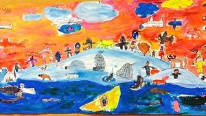 Murale élèves de Quaqtaq