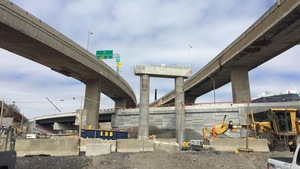 Le chantier du nouvel échangeur Turcot, à Montréal.