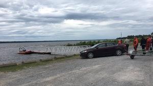 Un bateau dans le fleuve Saint-Laurent