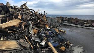 Les décombres du Théâtre de la Vieille Forge de Petite-Vallée