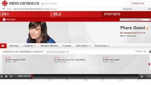 Capture d'écran de l'ancien site web de Phare Ouest
