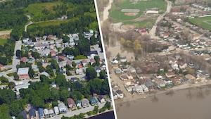 Inondations: nos photos avant/après