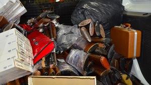 Photo de la collecte de la police de Regina effetuée dans le cadre de son programme d'aministie à l'égard des armes.