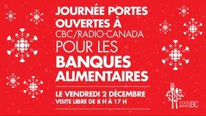 Image promotionnelle de la Journée portes ouvertes à CBC/Radio-Canada à Vancouver au profit des banques alimentaires de la Colombie-Britannique