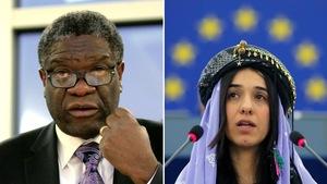 Denis Mukwege, à gauche, et Nadia Murad, à droite