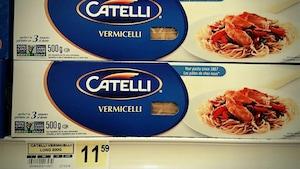 Avez-vous déjà payé un tel prix pour une boîte de pâtes?