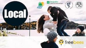 Un montage photo fait la promotion du programme Freebees au Témiscamingue.