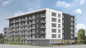 Esquisse du projet d'immeuble à logements proposé par Structures Royal