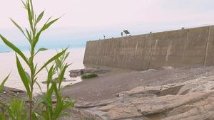 Le quai de de L'Islet vu de côté.