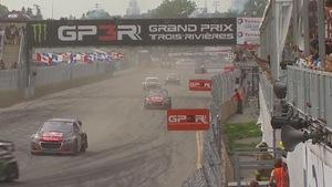 Course de rallycross au Grand prix de Trois-Rivières