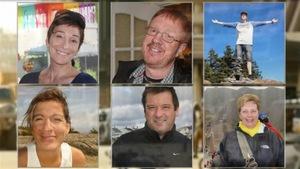 Les six victimes de l'attentat au Burkina Faso.