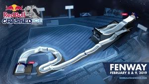 Une maquette 3D du parcours de Crashed Ice dans le Fenway Park