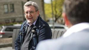 Le maire de Québec accorde une entrevue à Bruno Savard deux jours après avoir annoncé sa retraite de la vie politique
