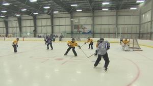 Des joueuses sur la glace
