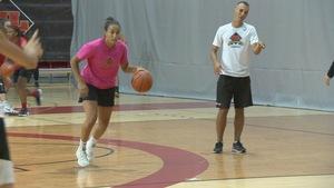 Sabrine Khelifi au sein du Rouge et Or basketball