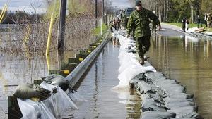 Saint-André-d'Argenteuil au moment des inondations, en mai 2017