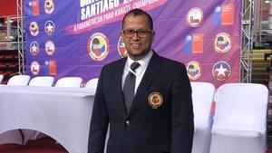 Samir Baccouche lors des 32e Jeux panaméricains seniors à Santiago au Chili.