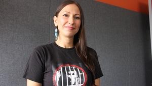 La militante antispéciste Sandra Gajdos.