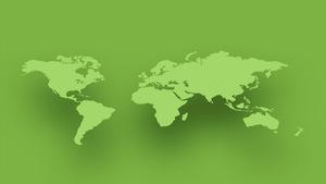 Mappe monde infographique.