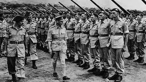 Photo d'archives de soldats pendant la Deuxième Guerre mondiale.