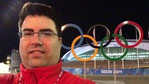 Sylvain Richard aux Jeux Olympiques de Sotchi, en Russie, en 2014.