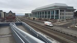 Une vue du centre-ville de Thunder Bay.