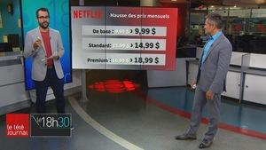Jean-François Blanchet et Bruno Savard sur le plateau du Téléjournal Québec.