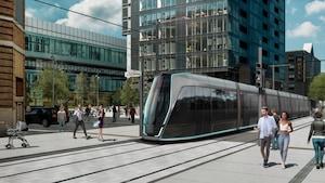 Une maquette du design du tramway