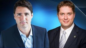 Portrait de Justin Trudeau et Andrew Sheer.