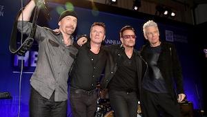 The Edge, Larry Mullen Jr, Bono et Adam Clayton de U2