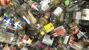 Un lot de plusieurs centaines de contenants alimentaires en verre.