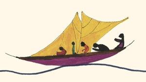 L'image de la couverture, qui montre des silhouettes sur une barque, a été dessinée à la main.