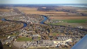 Une vue aérienne de la ville de L'Assomption