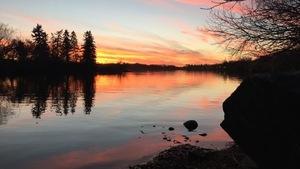 Le lac Wascana à Regina
