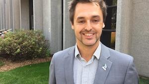 Xavier-Antoine Lalande, conseiller municipal sortant et candidat à la mairie de Saint-Colomban.