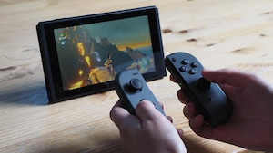 La console de jeux vidéo Nintendo Switch.