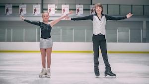 Les patineurs artistiques Alexanne Joanis et Charly Laliberté-Laurent