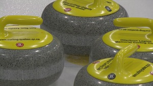 Pierres de curling.