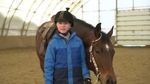 Étienne Leclerc-Naud, amoureux des chevaux